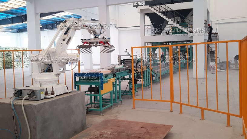 robotic palletizer, palletizer machine, robotic palletizing