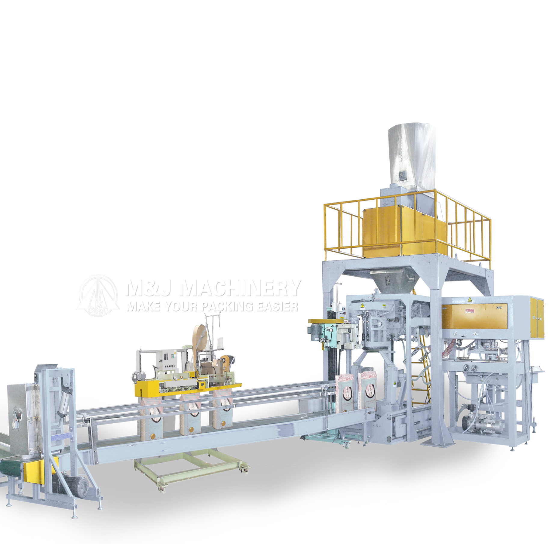 Compelletely automatic bagging machine