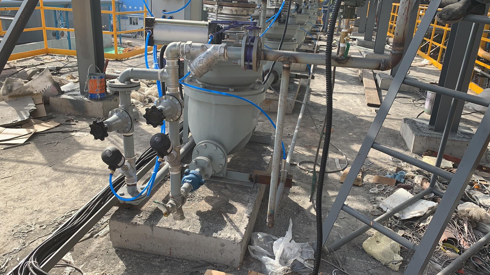 中冶北方联峰1#450M2项目安装调试结束