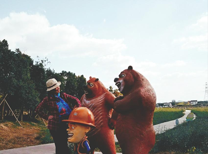 又见荪湖,又见花海,又见熊大熊二