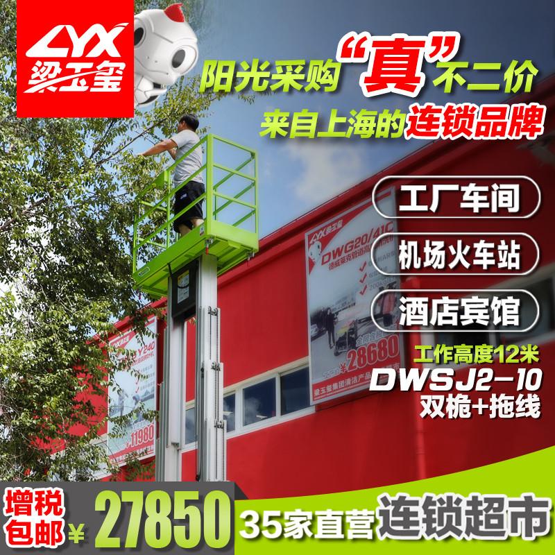 工厂园区电动双桅升降机高空作业平台DWSJ2-10