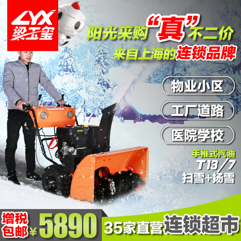 坦龙手推式扫雪扬雪机汽油T13/7