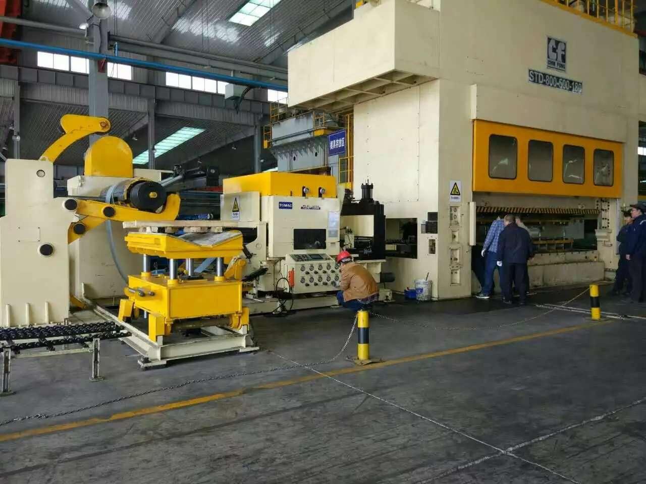 山东客户汽车零件加工生产线