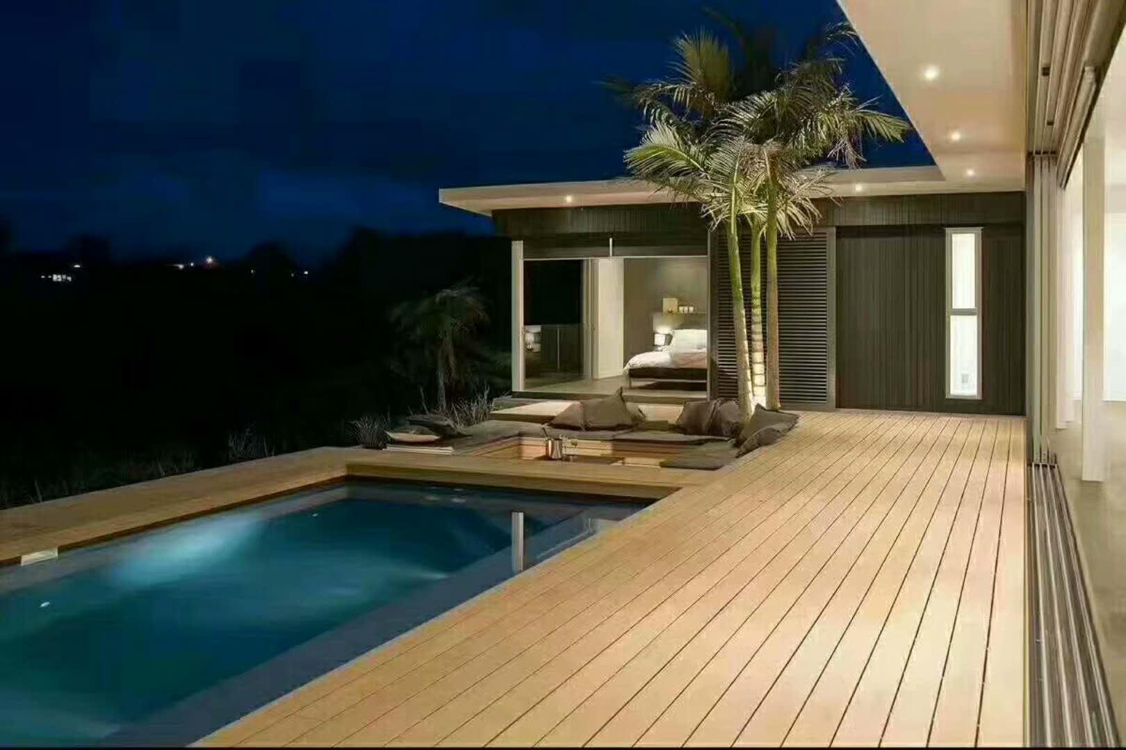 游泳池塑木地板