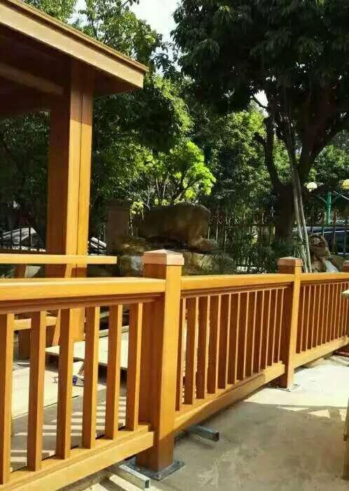 生态园木塑花架
