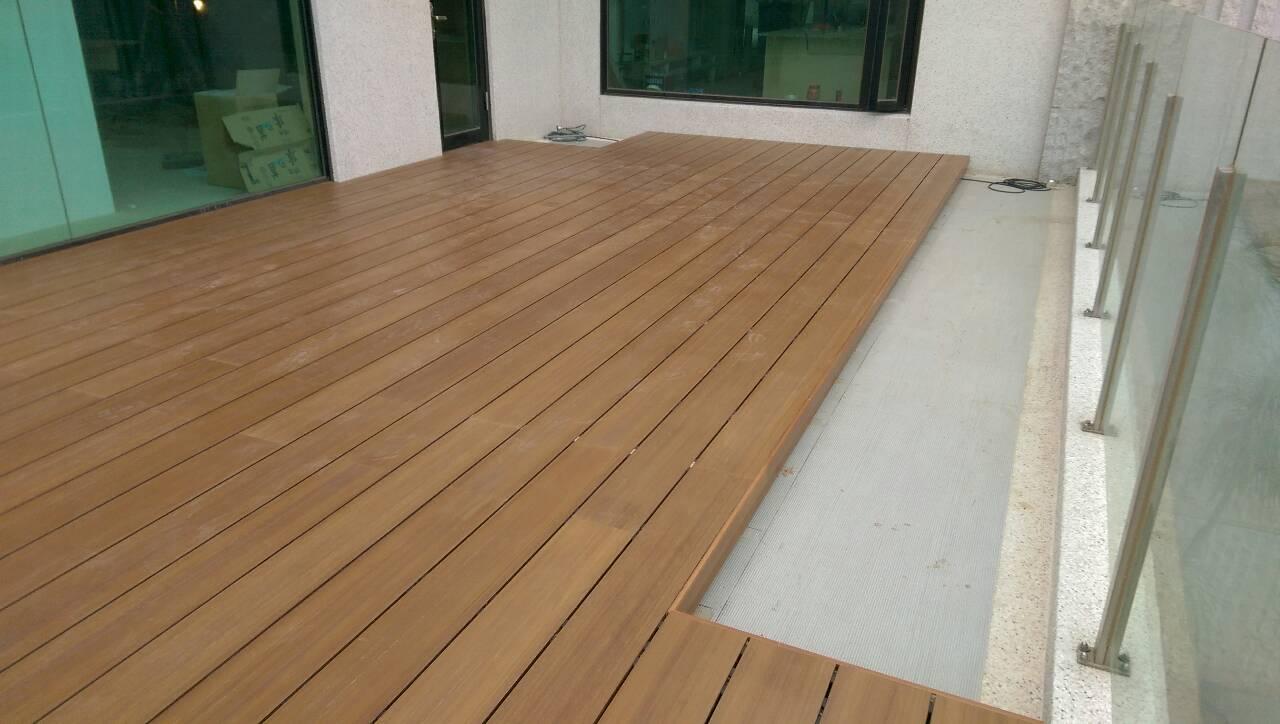 家庭阳台木塑地板