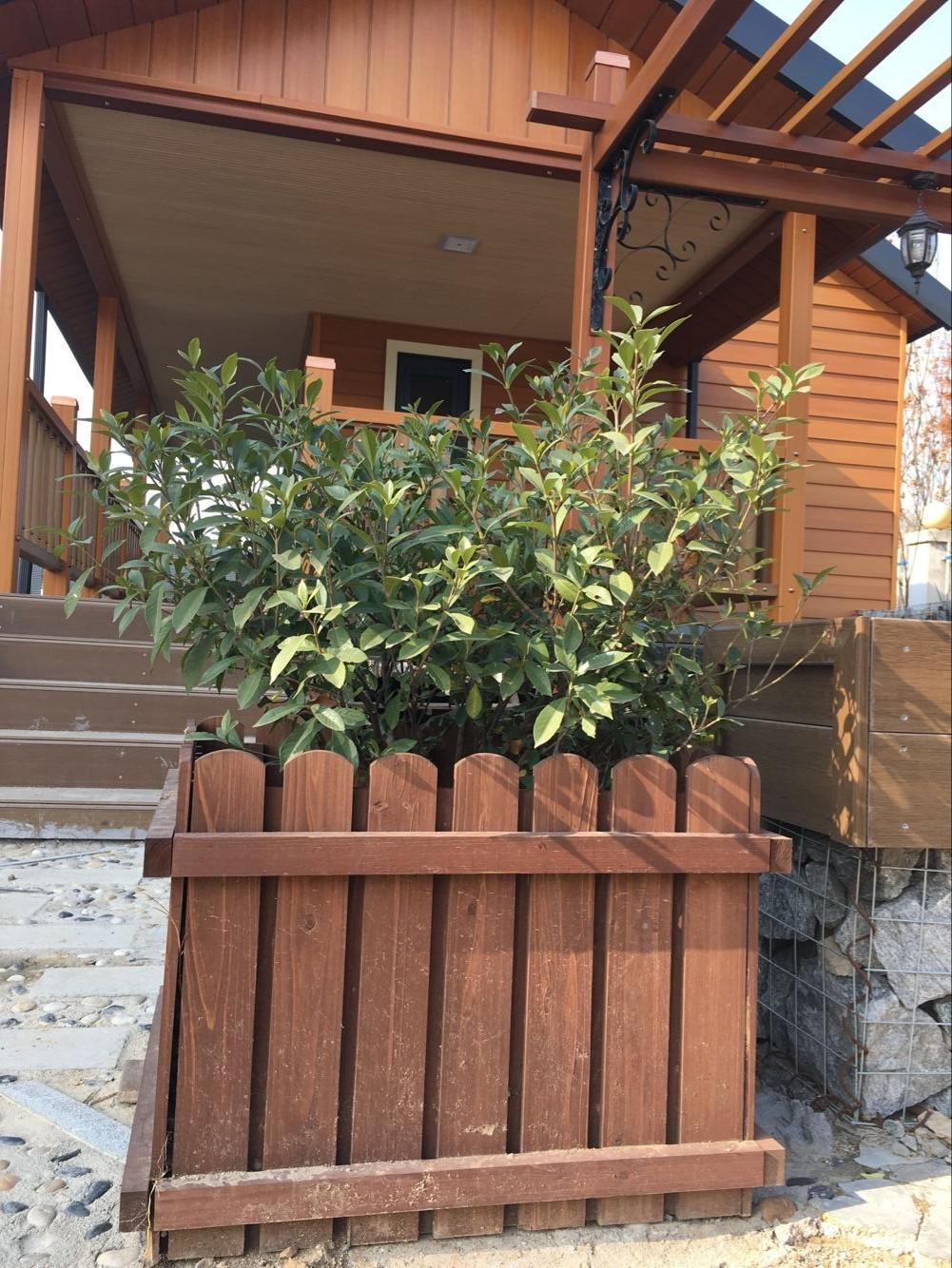 园林广场木塑花箱