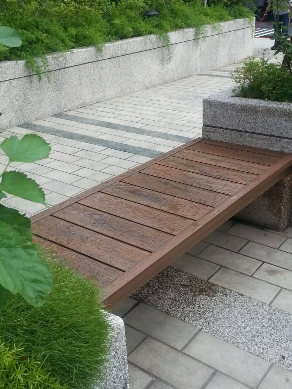 休息低碳木塑座椅
