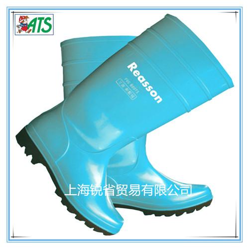 蓝色食品雨鞋