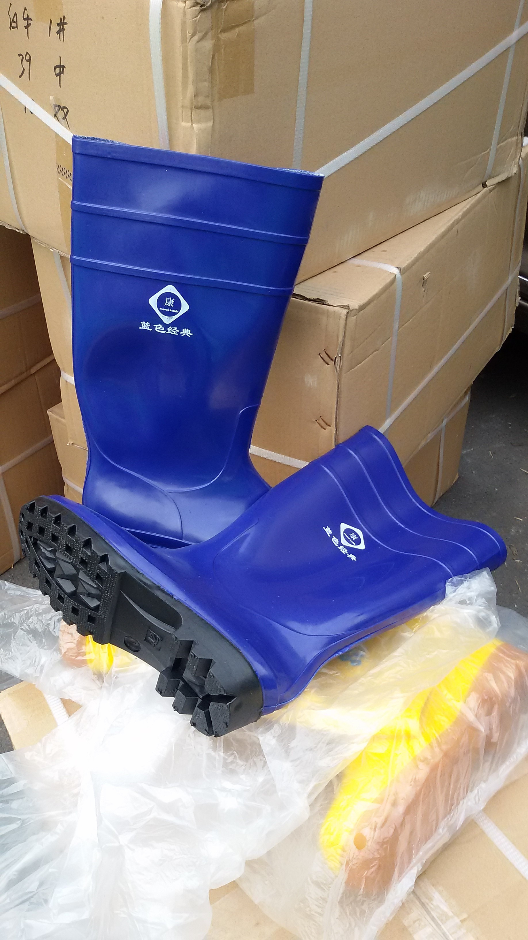 夏季冰爽_蓝色经典_蓝色养殖雨鞋系列_上海锐省贸易有限公司