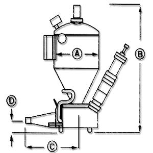 GF系列发送罐规格示意图