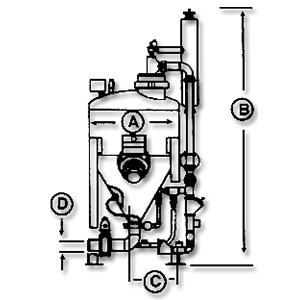 DPV-B系列发送罐规格示意图