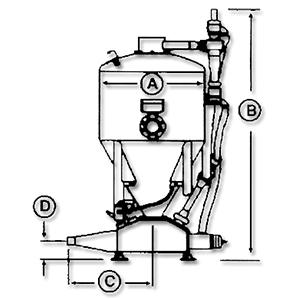 HC系列发送罐规格示意图