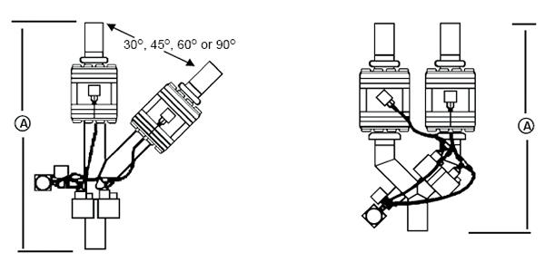 夹式分流阀规格示意图