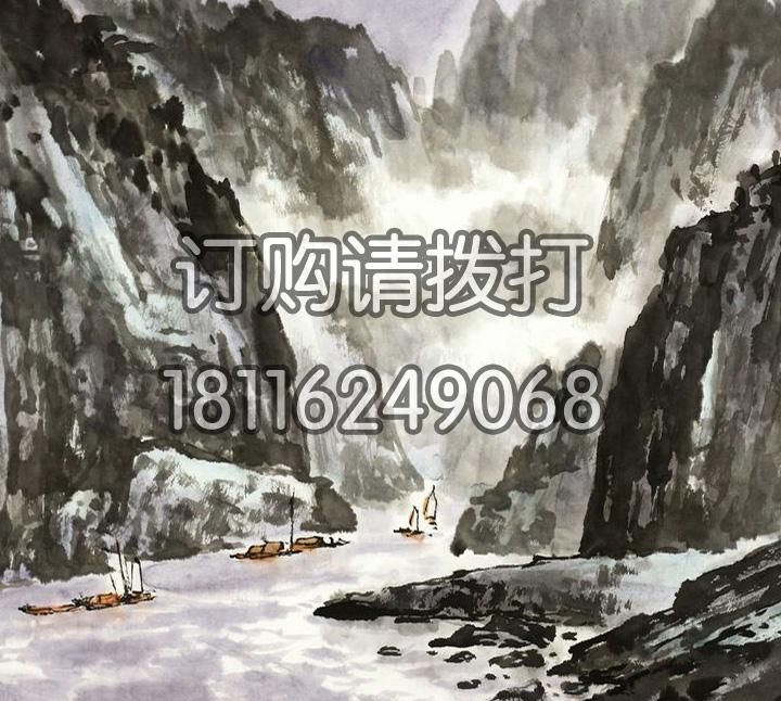 三峡水墨山水无缝墙布SS-015