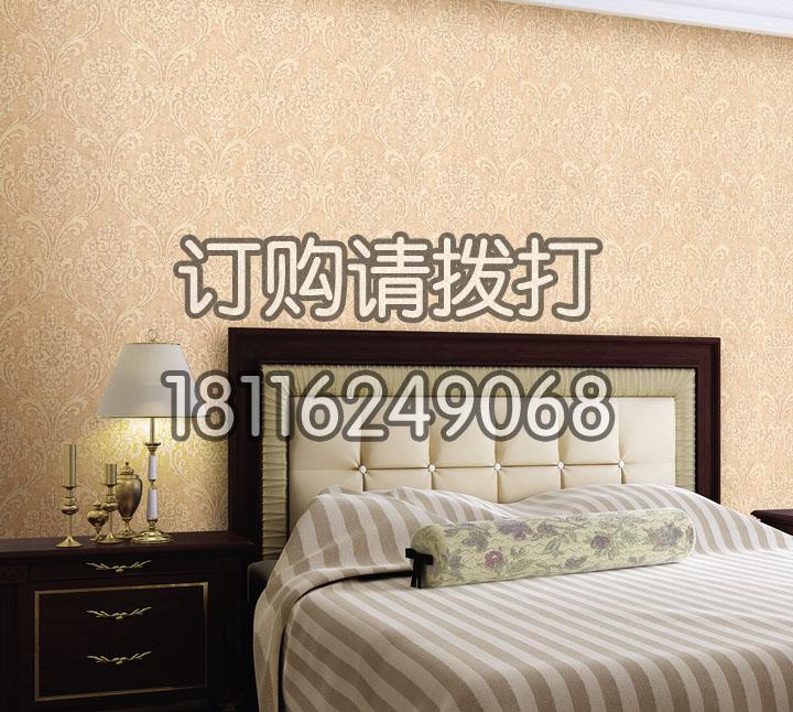 素色宾馆客房有缝墙布Y...