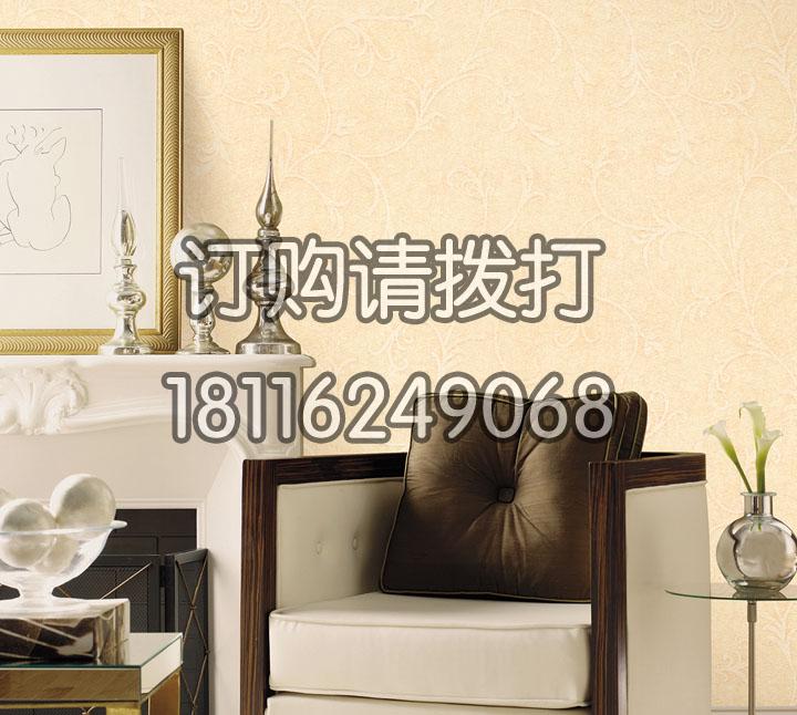 素色花纹酒店墙布YF-...