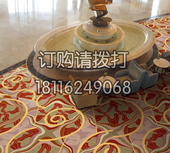 精致酒店大厅地毯印花地...