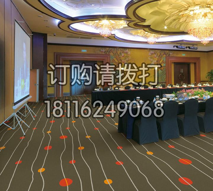 棕色会议室尼龙印花地毯-062