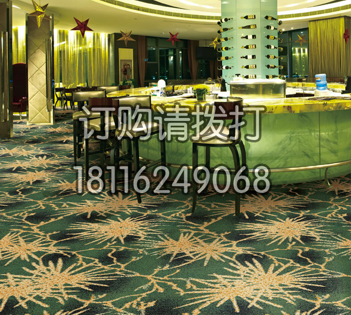精致酒店酒吧区尼龙印花地毯-063