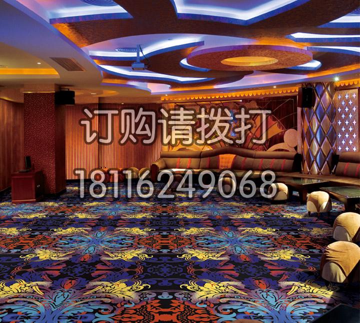 酒店娱乐室尼龙印花地毯...