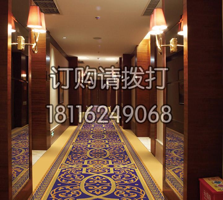 酒店走廊尼龙印花地毯-...