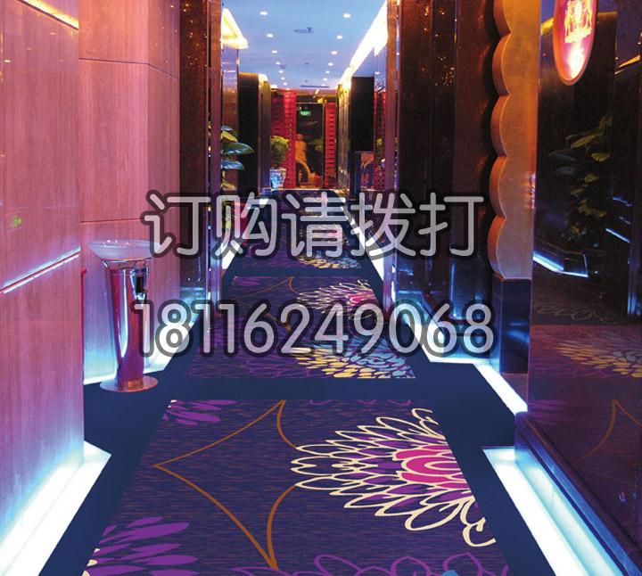 酒店走廊金紫尼龙印花地...