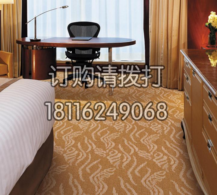酒店客房浅棕色簇绒地毯...