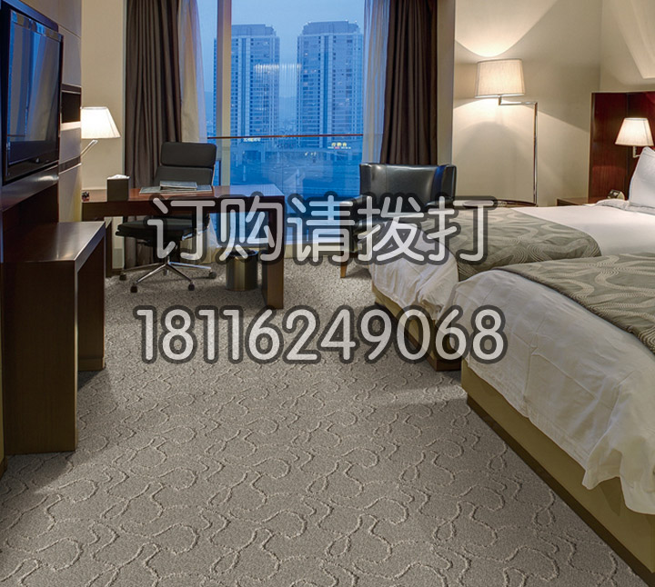 精美宾馆客房满铺地毯盛...