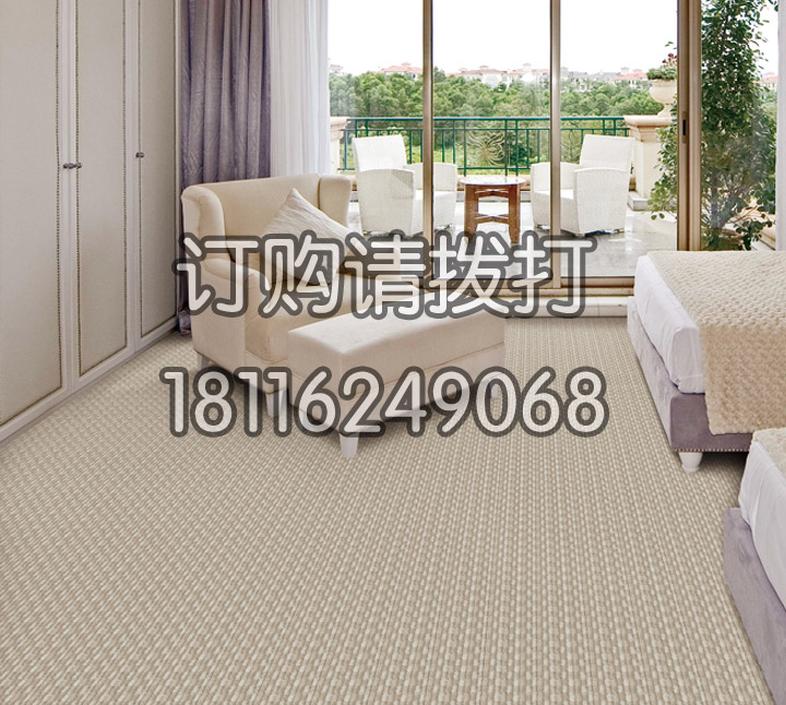 酒店标准间米白色地毯簇...