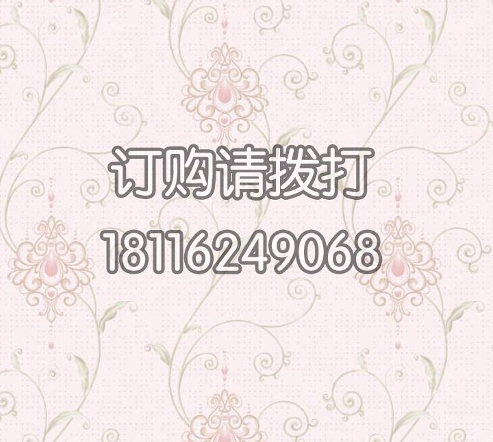 酒店淡红色花卉图案PV...