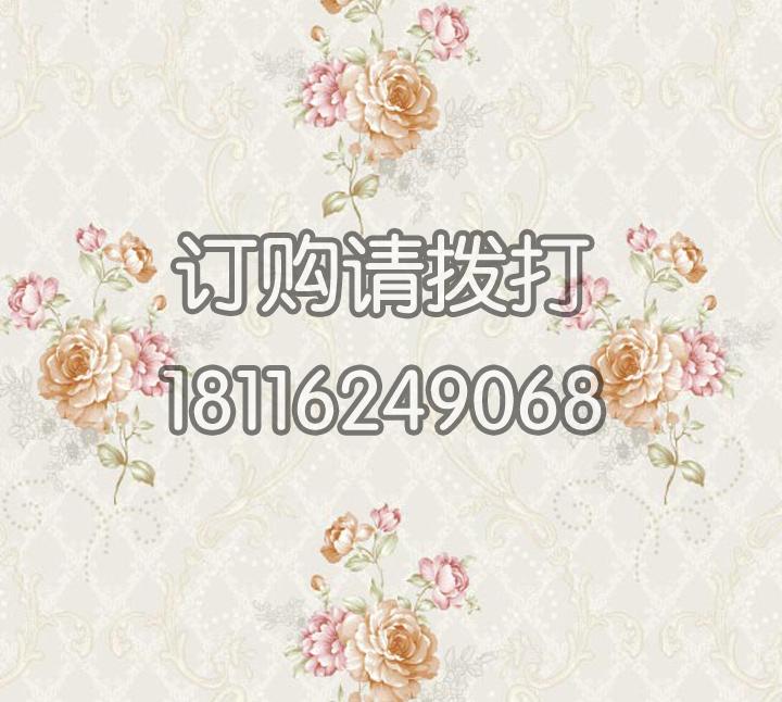 家庭花卉图案PVC墙纸...