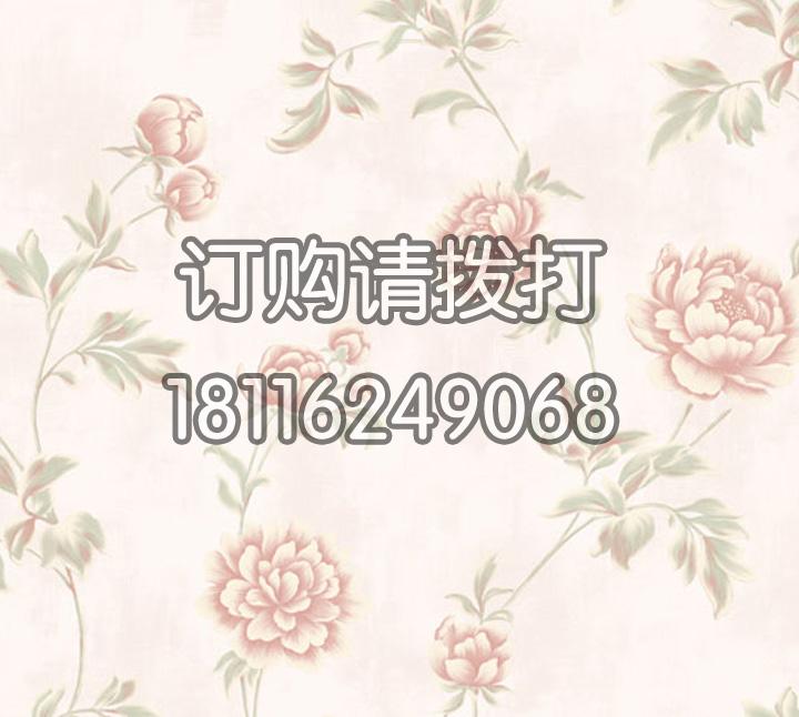 家庭卧室花卉图案无纺墙...