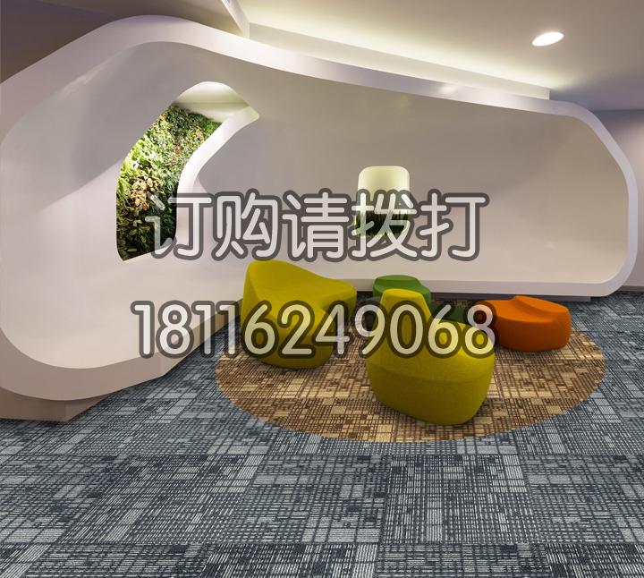 办公区域会客厅方块地毯...
