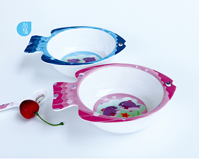 魚形童碗-1100