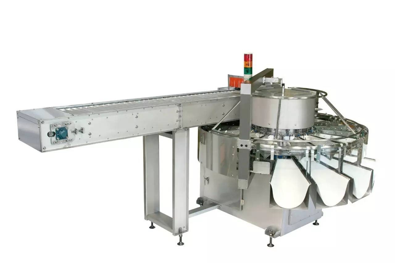 自動秤—旋轉式多段重量分選秤