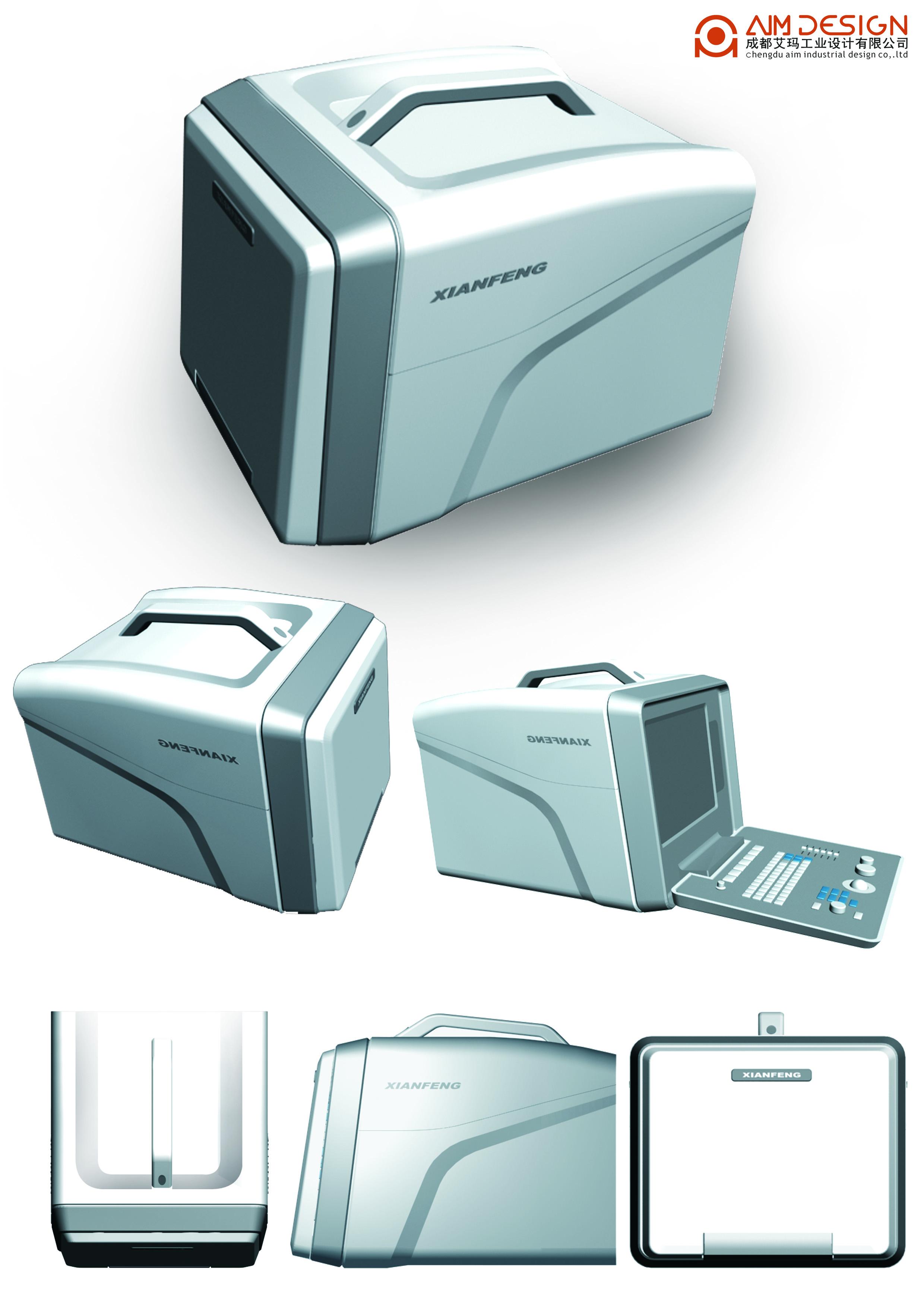 商業設計:便攜式黑白B超機e