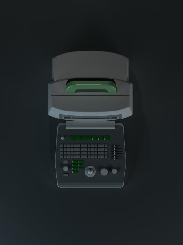 商業設計:便攜式黑白B超機
