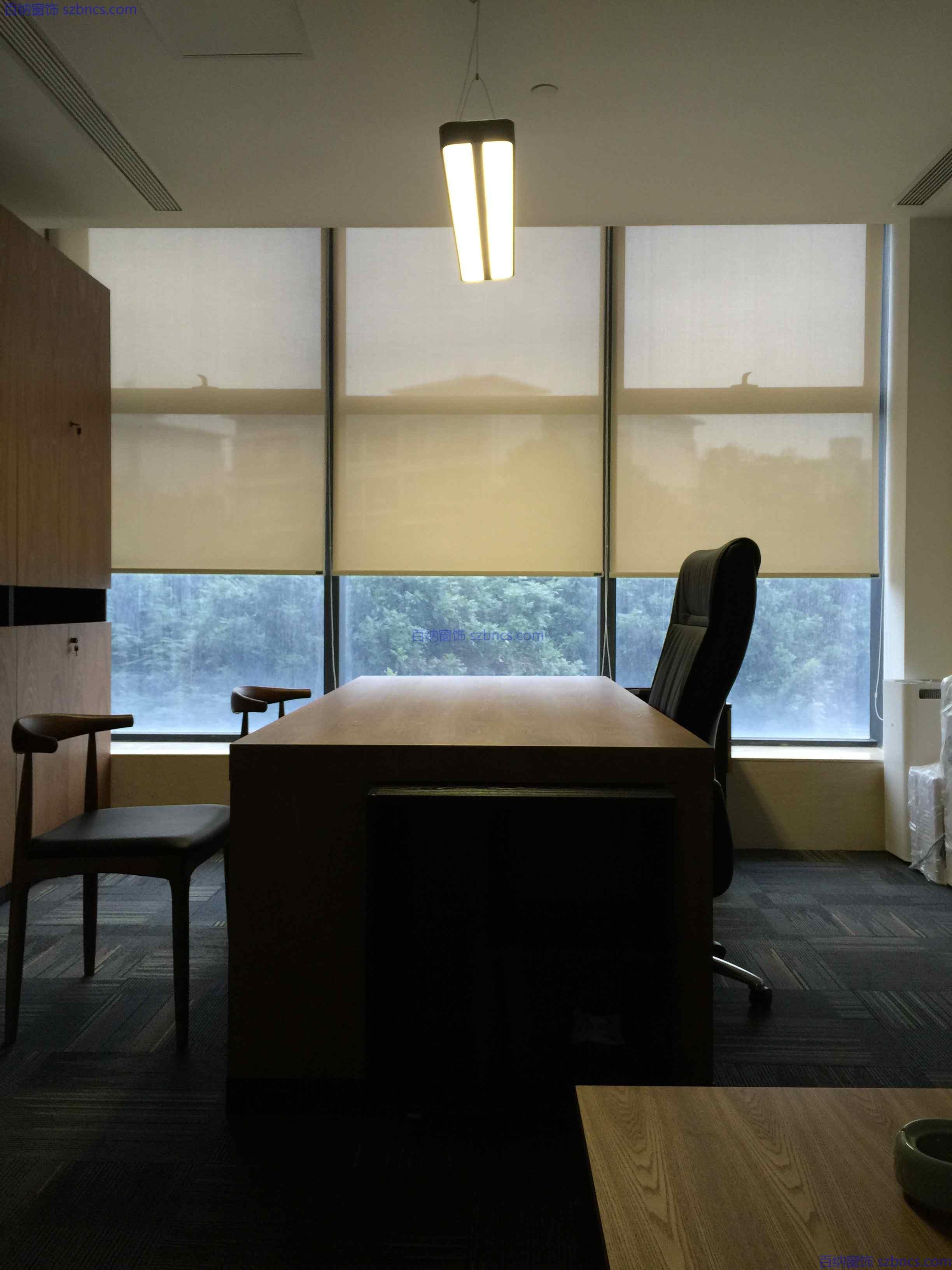 深圳百纳窗饰教您如何选择办公卷帘窗帘