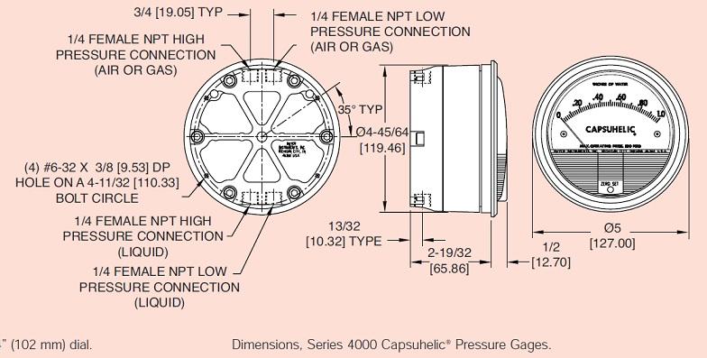 4000-500pa DWYER 高性能水压差表