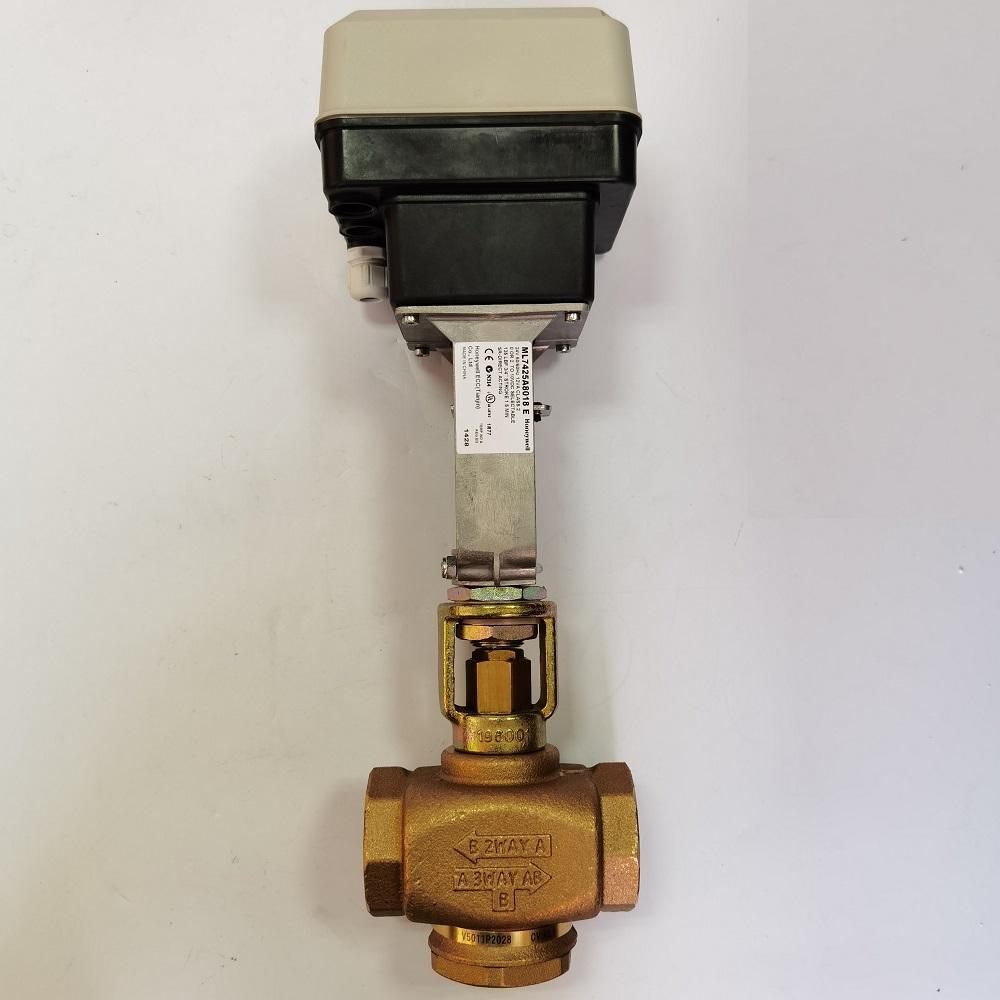 HONEYWELL ML7425 ML7425A ML7425A8018-E电动弹簧复位执行器配蒸汽阀高温配件安装实物详步骤分解图