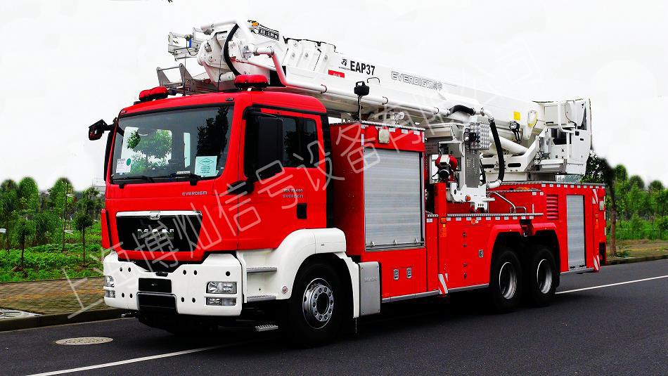 韩国 EVERDIGM 37米登高平台消防车