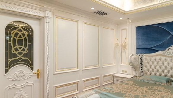 白色生态木饰面卧室装修