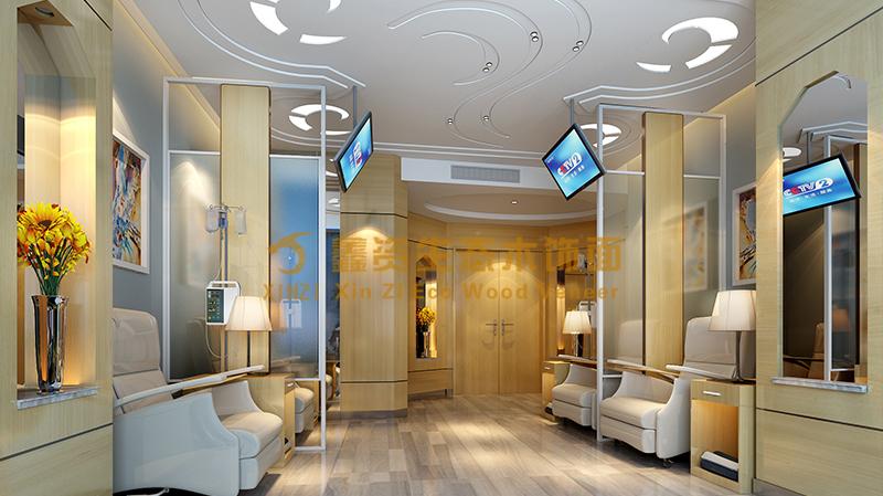 高端医疗美容医院输液大厅木饰面