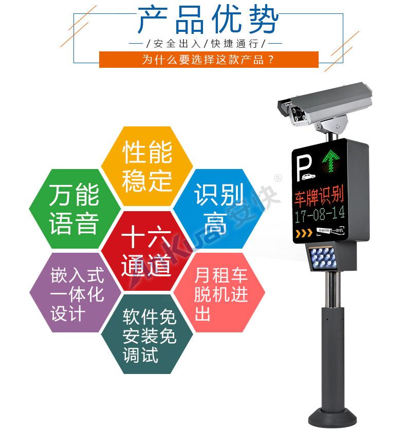 安快车牌识别系统主要功能特点