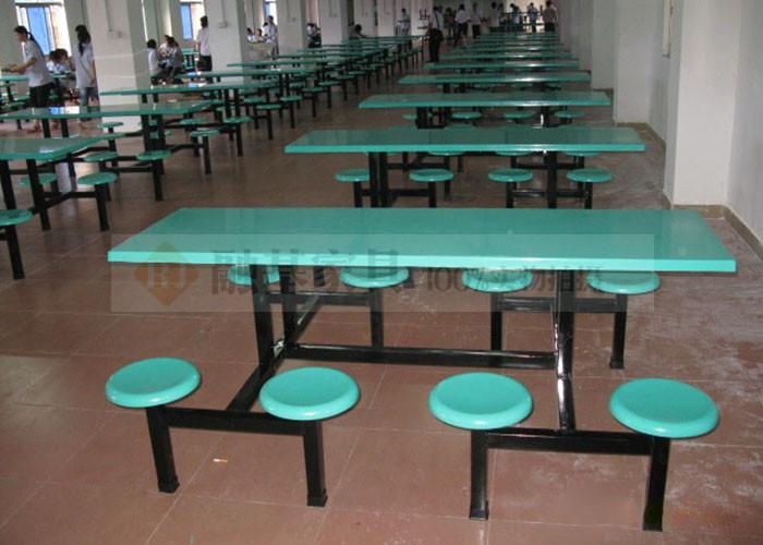 玻璃钢食堂餐桌椅