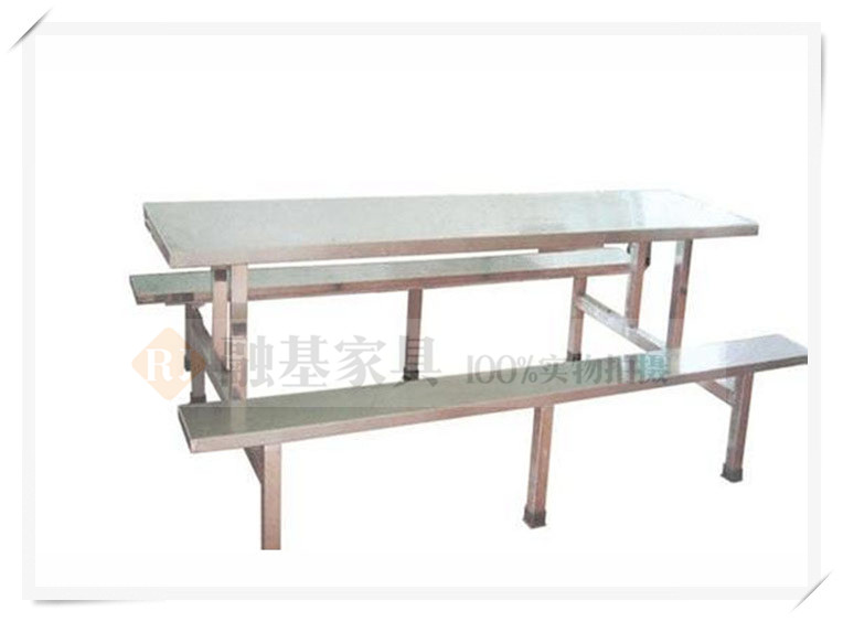 融基家具不锈钢食堂 餐桌椅