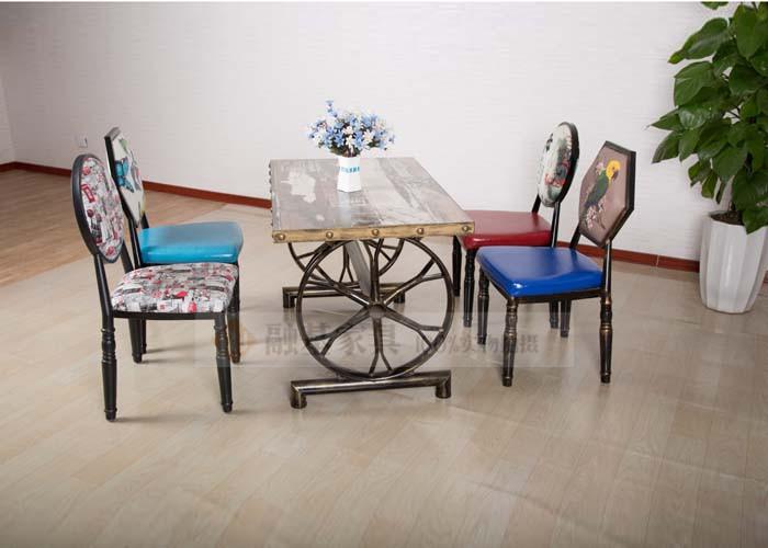 融基家具复古风餐桌椅