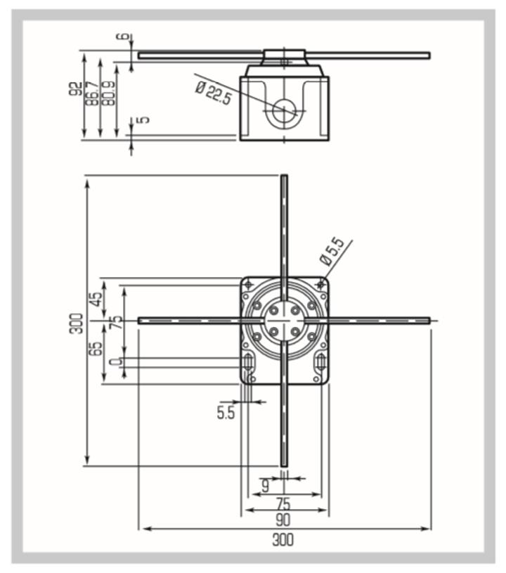 十字限位开关 fcr006(正反180度)