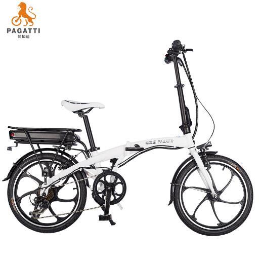 帕加迪折疊自行車電動車鋰電池20寸迷你型小型兩輪雙人成人電瓶車